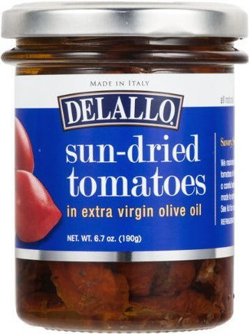 Delallo Sun-Dried Tomatoes in Extra Virgin Olive Oil 6.7 Oz (Pack of 2)