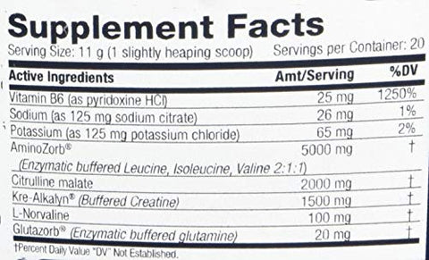 Distinct Formulations, AlphaCell 7, (Pre, Intra, Post), Lemon Spritz, 20 Servings