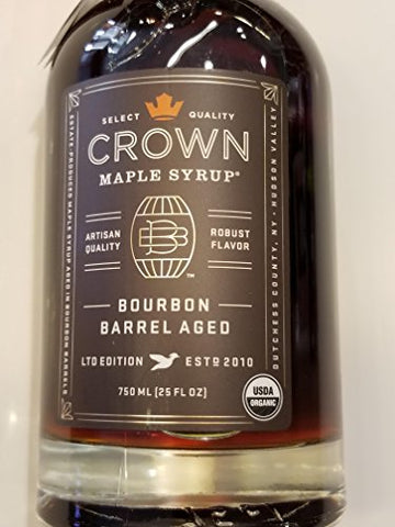 Bourbon Barrel Aged Maple Syrup by Crown Maple Farm - Ltd Edition (12.7 fluid ounce)