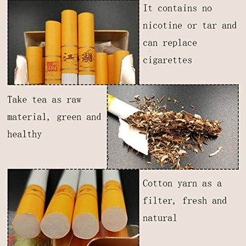 Yunnan Chinese Herbal Tea Cigarettes, Smokeless Fruit Scented Tea Tieguanyin Green Tea Black Tea, Smoke-Free Nicotine Free, Cigarette Substitutes (Oolong Tea, 5pack)