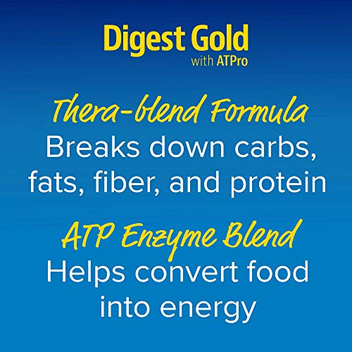Enzymedica, Digest Gold With At Pro, Daily Digestive Support Supplement With Enzymes And Atp, 90 Caps