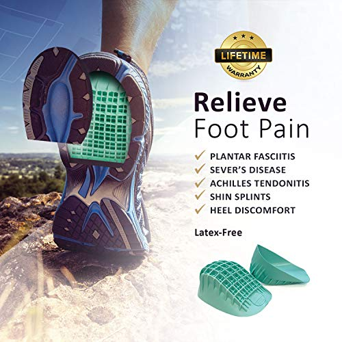 Tuliâ??S Heavy Duty Heel Cups, Green   Pro Heel Cup Shock Absorption And Cushion Inserts For Plantar