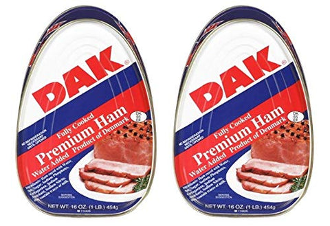 DAK Premium Ham, Fully Cooked, 16 oz. (Pack of 2)