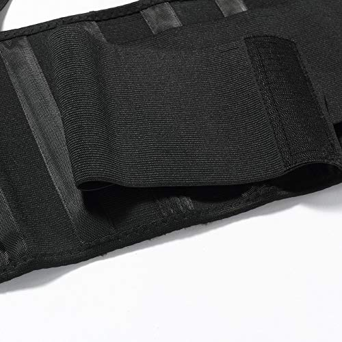 Lumbar Support Belt With Suspenders For Women   Black (Size M)
