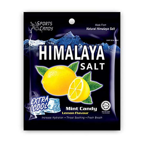 Salt And Lemon Candy - Made from Natural Himalaya Salt - Halal Candy Lemon Flavor (Pack of 12)