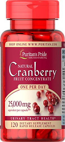 Puritan's Pride One A Day Cranberry Capsules, 120 Count