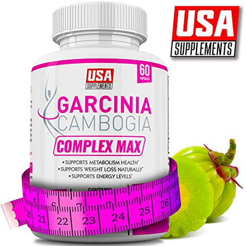 Garcinia Cambogia Appetite Suppressant Capsules for Weight Loss | Best Appetite Suppression Supplement | Vegan Veggie Caps | 100% Pure Garcinia Combogia Extract Diet Pills for Women That Work