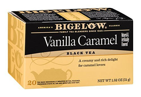 Bigelow Tea Vanilla Caramel 20 Bags (Pack of 12)