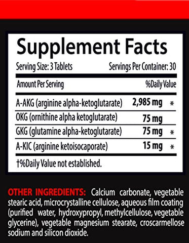 Nitric Oxide Preworkout Supplement - Nitric Oxide Pre-Workout Booster 3150mg (2 Bottles 180 Tablets)