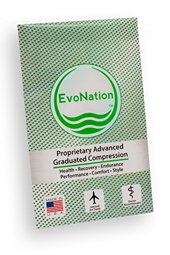 EvoNation Women's USA Made Graduated Compression Socks 15-20 mmHg Moderate Pressure Medical Quality Ladies Knee High Support Stockings Hose - Best Comfort Fit, Circulation, Travel (Small, Black)