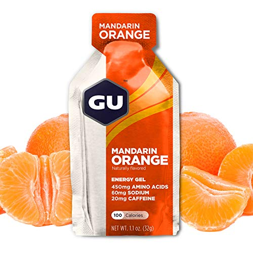 GU Energy Original Sports Nutrition Energy Gel, Mandarin Orange, 24 Count Box