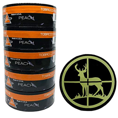 Nip Energy Dip Peach 5 Cans with DC Crafts Nation Skin Can Cover - Deer