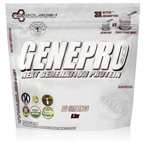 Genepro Protein: 30 Servings, Premium Low Calorie Protein For Absorption, Muscle Growth And Mix Abil