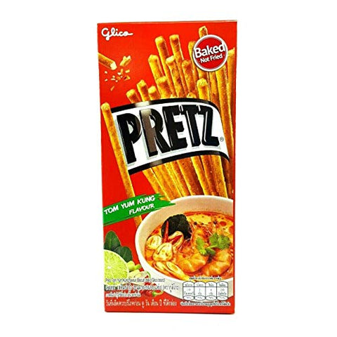 Thai Glico Pretz Tom Yum Kung Flavour Biscuit Stick (Pack of 4)