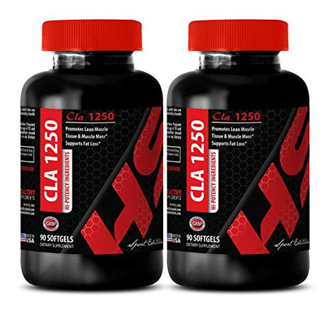 Cla omega 3 - CONJUGATED LINOLEIC ACID CLA 1250 MG - build muscle (2 Bottles)