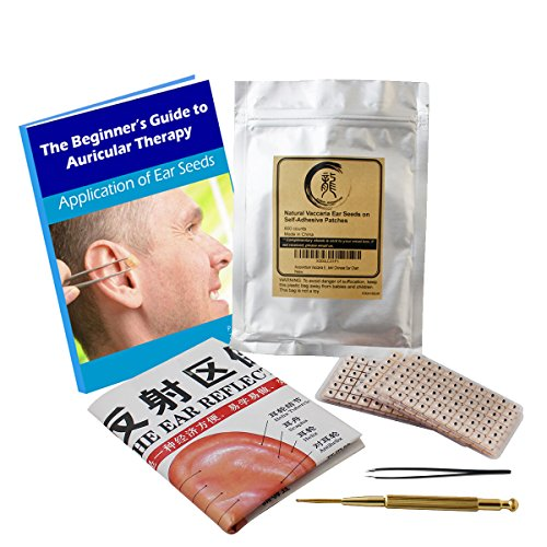 Multi Condition Ear Seeds Acupuncture Kit 600 Counts, E Book Placement Chart, Probe, Acupressure Ear
