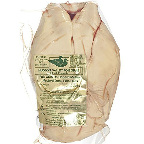 Whole Duck Foie Gras, Grade A - 1.9 - 2.5 Lbs