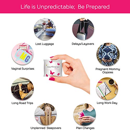 Panty Fresh On The Go 4in1 Women's Emergency Kit, Travel Kit  Pocket Size Includes Seamless Underwea