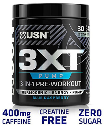 USN 3XT-Pump Pre-Thermo, Blue Raspberry