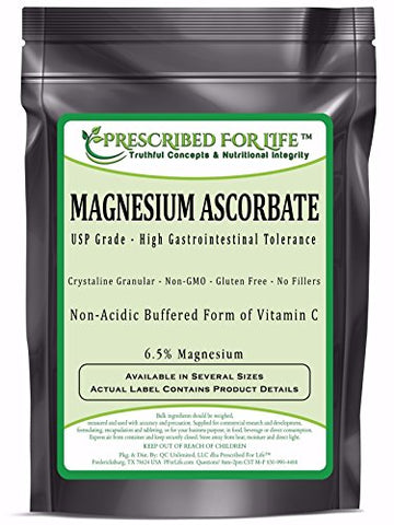 Magnesium Ascorbate - Natural USP Buffered Vitamin C Crystalline Powder - 6.5% Mg, 12 oz (340 g)