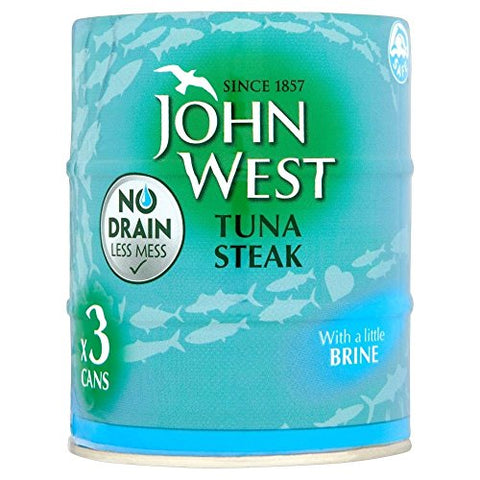 John West No Drain Tuna Steak In Brine 3 x 120g