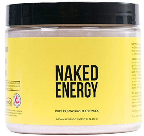 "Naked Energy ã¢â€â"" All Natural Pre Workout Powder For Men And Women, Vegan Friendly, Unflavored, No"