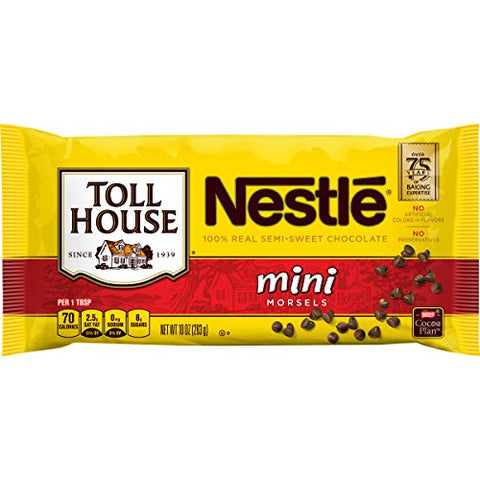 Nestle Toll House Mini Morsels 10 Oz. Bag, Pack Of 12