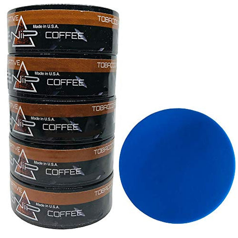 Nip Energy Dip Coffee 5 Cans with DC Crafts Nation Skin Can Cover - Blue