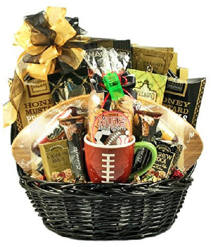 Gridiron Football Fathers Day Gift Basket | Meat, Cheese, Crackers, Nuts and More