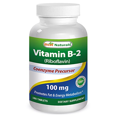 Best Naturals Vitamin B2 100 mg 180 Tablets