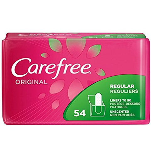 Carefree Original Regular Unscented, 54 Count (Pack of 3) by Carefree