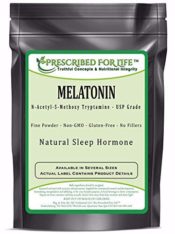 Melatonin - N-Acetyl-5-Methoxy Tryptamine Powder - Natural Sleep Hormone, 4 oz (113 g)