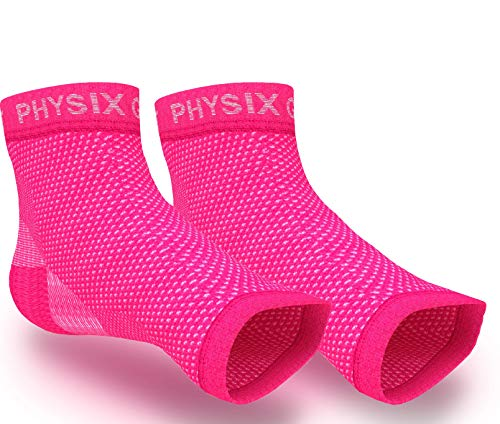 Physix Gear Plantar Fasciitis Socks With Arch Support For Men & Women   Best 24/7 Compression Foot S