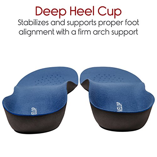 Envelop Thin Insole for Men and Women - Foot Orthotic Full Length Shoe Insert for Plantar Fasciitis Pain Relief - Foam Work Soles for Heel Spur, Flat Feet, Ankle, Arch Support, Boot, Metatarsal, Back