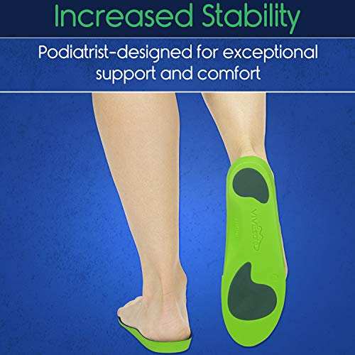ViveSole Plantar Fasciitis Insoles - Foot Arch Support Orthotic - Firm Foam Shoe Inserts for Men, Woman, Work, Running - Fits Boots and Sneakers
