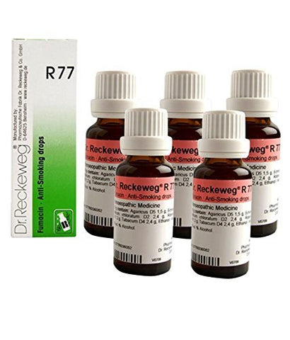 Dr.Reckeweg Germany R77 Anti Smoking Drops Pack of 5