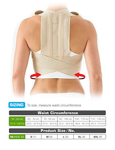Neo G Clavicle Brace - Back Support for Posture Correction, Early Kyphosis, Rounded Shoulders, Pain Relief, Muscular Aches, Rehab - Fully Adjustable - Class 1 Medical Device - X-Large - Tan