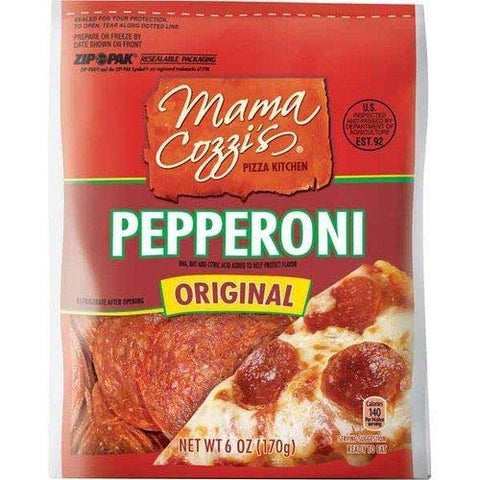 Mama Cozzi's Pizza Kitchen Original Pepperoni Slices in ZipPak - 1 Pack (6 oz)