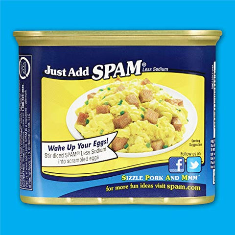 Spam Less Sodium, 12 Ounce Can