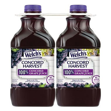 Welch's 100% Concord Grape Juice (64 oz., 2 pk.)