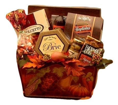 Fall Bounty Gift Basket - Cheese, Sausage and Snack Gifts