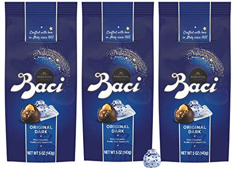 Baci Perugina Original Dark Chocolate Truffle Bag, 5 oz (Pack of 3)