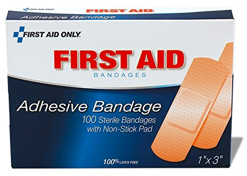 "PhysiciansCare by First Aid Only by First Aid Only First Aid Plastic Bandages, Box of 100, 1"" x 3"""
