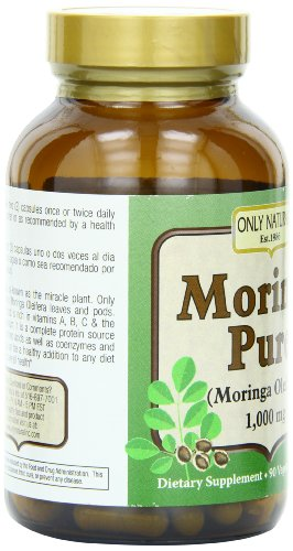 Only Natural Nutritional Supplement Capsules, Moringa Pure, 90 Count