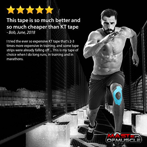 Kinesiology Tape - Ebook for Latest Strapping, Taping Applications - Therapeutic Sports Tape - Knee Shoulder Elbow Ankle Neck, Superior Waterproof & Adhesion - Latex Free FDA & CE Approved (Beige)