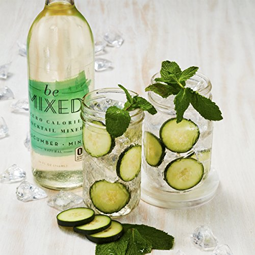 Zero Calorie Cucumber Mint Cocktail Mixer by Be Mixed | Low Carb, Keto Friendly, Sugar Free and Gluten Free Drink Mix | 25 ounce, Single Bottle