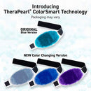 Image of TheraPearl Color Changing Reusable Hot Cold Pack with Strap, Sports Size Ice Pack with Gel Beads, Flexible Hot & Cold Compress for Pain Relief, Swelling, Sports Injuries, Cooling & Heating Pad