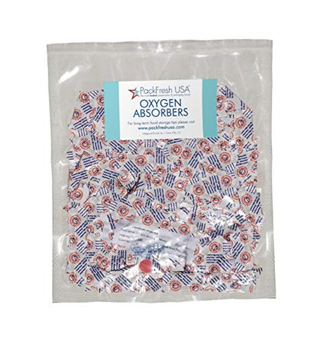 20cc Oxygen Absorber Packets with PackFreshUSA LTFS Guide (400)