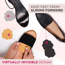 Image of Foot Petals Tip Toes, 3-Pack - Cushioned Ball of Foot Inserts for High Heels and Other Uncomfortable Shoes
