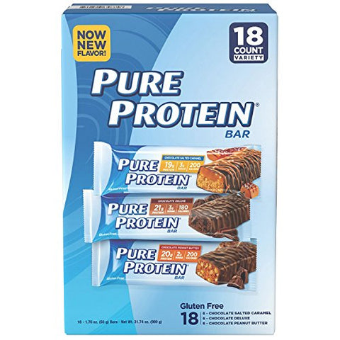 Pure Protein Bars Variety Pack, 18 ct./1.76 oz.-2 Packs
